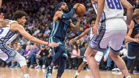 Oct 24, 2018; Sacramento, CA, USA; Memphis Grizzlies guard Mike Conley (11) goes up for the shot during the second quarter against the Sacramento Kings at Golden 1 Center. Mandatory Credit: Ed Szczepanski-USA TODAY Sports