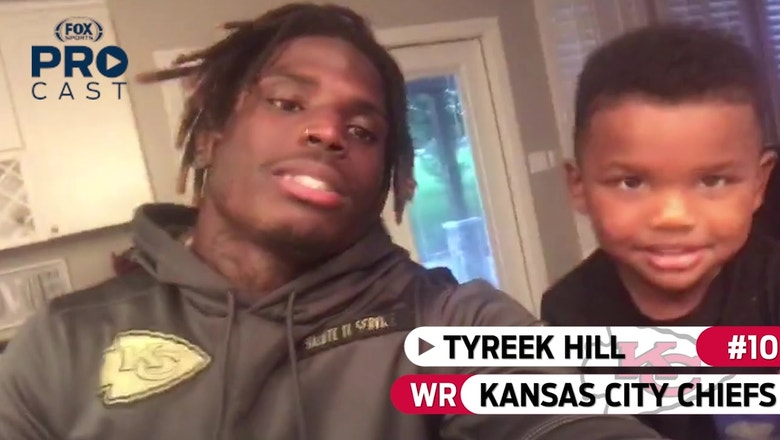 Chiefs WR Tyreek Hill is ready to watch TNF with his son