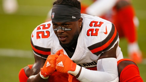 <p>               FILE - In this Aug. 23, 2018, file photo, Cleveland Browns defensive back Jabrill Peppers warms up before an NFL football game against the Philadelphia Eagles in Cleveland. Peppers says he has stopped going out publicly by himself after hostile confrontations with Cleveland fans. (AP Photo/Ron Schwane, File)             </p>