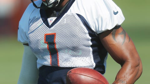 <p>               FILE - In this Aug. 9, 2018, file photo, Denver Broncos punter Marquette King takes part in drills at NFL football training camp, in Englewood, Colo. Injured punter Marquette King missed another practice Friday, Oct. 5, 2018, and the Broncos were considering promoting new practice squader Colby Wadman to take his place this weekend against the New York Jets.(AP Photo/David Zalubowski, File)             </p>