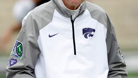 <p>               Kansas State head coach Bill Snyder looks on from the sideline at the start of a college football game against Texas in Manhattan, Kan., Saturday, Sept. 29, 2018. (AP Photo/Colin E. Braley)             </p>