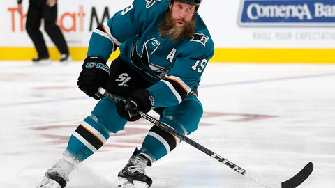 <p>               FILE - In this Thursday, Sept. 27, 2018 file photo,San Jose Sharks center Joe Thornton (19) skates against the Calgary Flames during a preseason NHL hockey game in San Jose, Calif. Doug Wilson didn't go looking for Joe Thornton insurance last summer because he already had it. When the San Jose Sharks found out about their longtime star's latest setback with a series of nagging right knee injuries, they didn't panic. They knew what they could count on from captain Joe Pavelski and the rest of their supporting cast. (AP Photo/Tony Avelar, File)             </p>