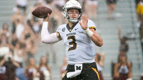 <p>               Missouri quarterback Drew Lock (3) attempts a pass against South Carolina during the second half of an NCAA college football game Saturday, Oct. 6, 2018, in Columbia, S.C. (AP Photo/Sean Rayford)             </p>