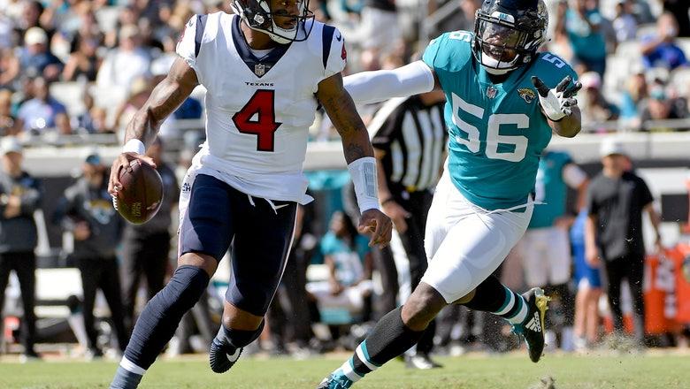 Texans take advantage of Bortles' miscues, beat Jaguars 20-7