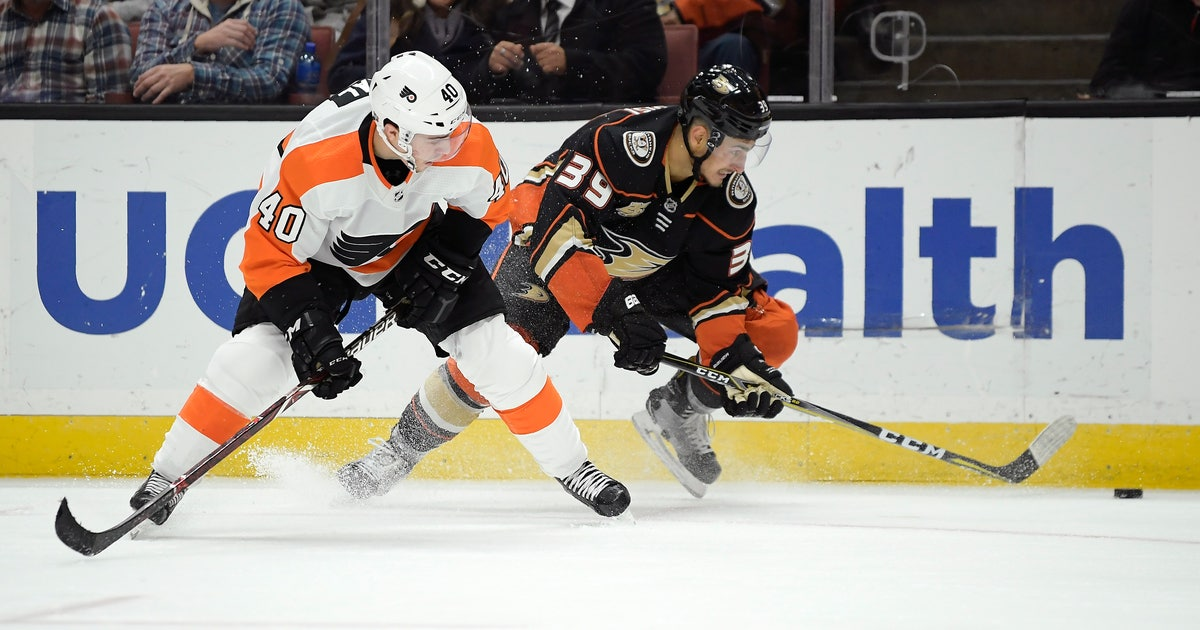 Ducks' winless skid hits 6 games after 3-2 loss to Flyers