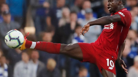 <p>               FILE - In this file photo dated Saturday, Sept. 29, 2018, Liverpool's Sadio Mane in action against Chelsea during the English Premier League soccer match at Stamford Bridge stadium in London.  Senegal coach Aliou Cisse confirmed Tuesday Oct. 16, 2018, Sadio Mane has broken a bone in his left hand while playing for Senegal for African Cup of Nations qualifiers, and won't play the return match. (AP Photo/Frank Augstein, FILE)             </p>