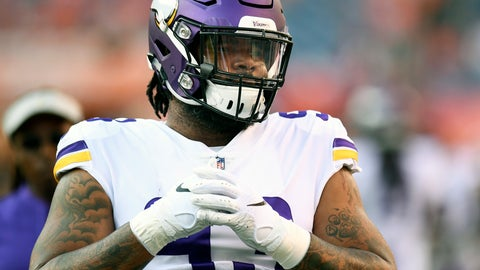 <p>               FILE - In this Aug. 11, 2018, file photo, Minnesota Vikings defensive tackle Sheldon Richardson warms up before an NFL football game against the Denver Broncos, in Denver.  The Vikings are allowing the sixth-highest passer rating in the NFL one-quarter of the way through this season. One problem has been a pass rush negated by rollouts and misdirections cleverly used by opponents. (AP Photo/Mark Reis, File)             </p>