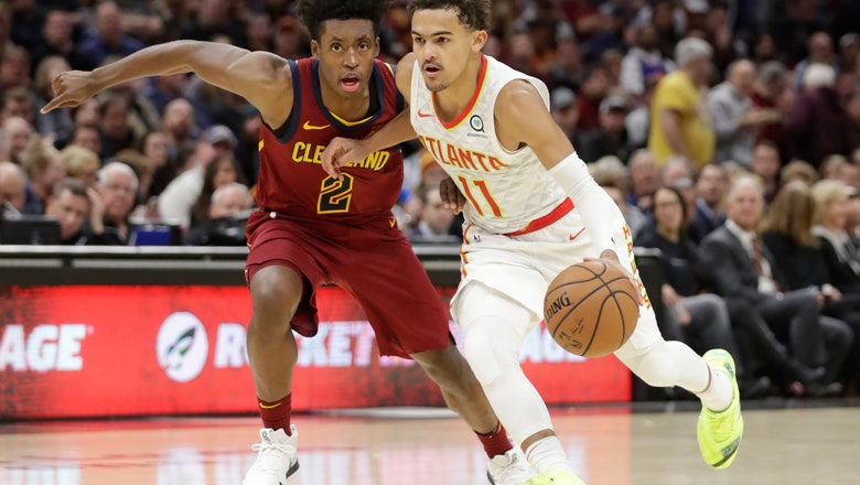 Young has 35 points, Hawks rout Cavs 133-111
