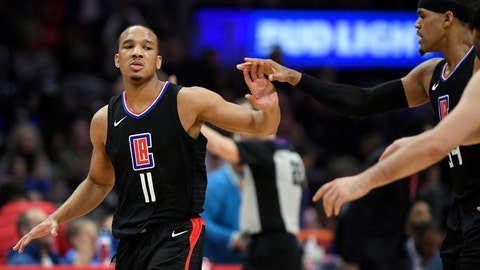 <p>               FILE - In this Feb. 3, 2018 file photo, Los Angeles Clippers guard Avery Bradley, left, congratulates forward Tobias Harris after Harris scored during the second half of an NBA basketball game against the Chicago Bulls in Los Angeles. Bradley, Patrick Beverley and Danilo Gallinari have the most to prove since they missed big chunks of last season. (AP Photo/Mark J. Terrill, File)             </p>