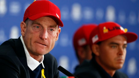<p>               FILE - In this Sept. 30, 2018, file photo, U.S. team captain Jim Furyk attends the press conference of the losing team after Europe won the 2018 Ryder Cup golf tournament at Le Golf National in Saint Quentin-en-Yvelines, outside Paris, France. Furyk plays in Las Vegas this week, his first competition since the Ryder Cup.(AP Photo/Alastair Grant)             </p>