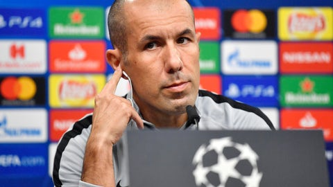 <p>               FILE - In this Oct. 2 2018 file photo, Monaco head coach Leonardo Jardim listens, during a press conference, a day ahead of the Champions League group A soccer match between Borussia Dortmund and AS Monaco in Dortmund, Germany. Monaco has fired coach Leonardo Jardim following a run of four straight losses that has left the team in the French league's relegation zone and in last place in its Champions League group. (AP Photo/Martin Meissner, File)             </p>