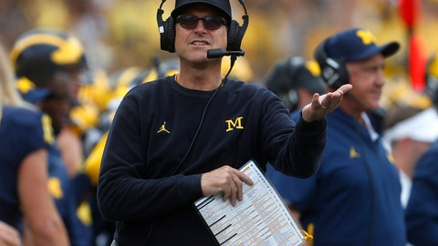 <p>               FILE - In this Sept. 22, 2018, file photo, Michigan coach Jim Harbaugh watches during the second half of the team's NCAA football game against Nebraska in Ann Arbor, Mich. No. 15 Michigan needs a confidence-building tuneup against Maryland before playing Wisconsin, at Michigan State and Penn State. (AP Photo/Paul Sancya)             </p>