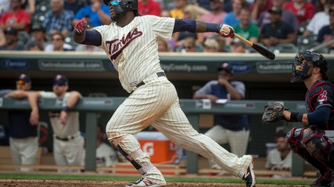 <p>               FILE - In this Aug. 1, 2018, file photo, Minnesota Twins' Miguel Sano bats against the Cleveland Indians in the seventh inning of a baseball game, in Minneapolis. The Twins see this as a crossroad offseason for third baseman Miguel Sano, with a plan for regular check-ins throughout the winter to ensure his conditioning is on track and his lower-body injuries are healing.  (AP Photo/Bruce Kluckhohn)             </p>