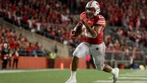 <p>               Wisconsin's Jonathan Taylor runs for a touchdown during the second half of an NCAA college football game against Nebraska Saturday, Oct. 6, 2018, in Madison, Wis. (AP Photo/Morry Gash)             </p>