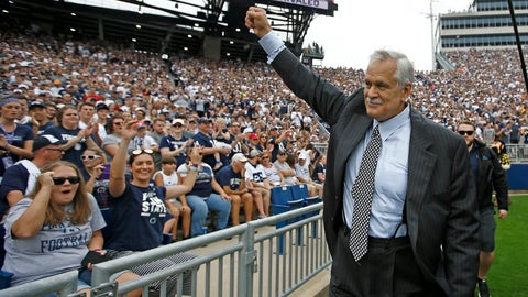 <p>               FILE - In this Sept. 1, 2018, file photo, honorary captain and Penn State alumn Matt Millen waves to the crowd before the team takes on Appalachian State in an NCAA college football game in State College, Pa. Millen is stepping away from his TV analyst job for the rest of this season to focus on his health. The Big Ten Network made the announcement Wednesday, Oct. 3, 2018. The 60-year Millen has amyloidosis and has been seeking a heart transplant. (AP Photo/Chris Knight, File)             </p>