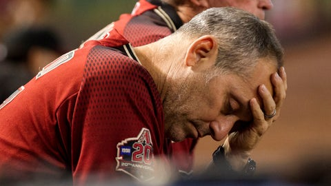 <p>               FILE - In this Sept. 23, 2018, file photo, Arizona Diamondbacks manager Torey Lovullo wipes his brow during a baseball game against the Colorado Rockies, in Phoenix. The Diamondbacks were in contention for a second straight playoff appearance late into the season. A late collapse knocked them out of the race and may have put them at a crossroads. (AP Photo/Darryl Webb, File)             </p>