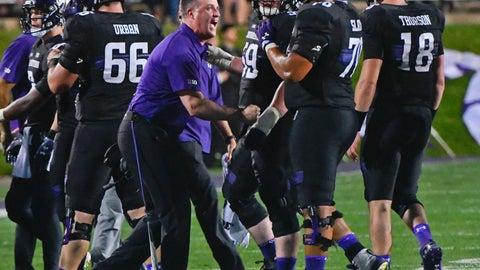 <p>               FILE- In this Sept. 15, 2018, file photo Northwestern head coach Pat Fitzgerald directs his team against Akron during the first half of an NCAA college football game in Evanston, Ill. Nebraska plays Northwestern on Saturday, Oct. 13, (AP Photo/Matt Marton, File)             </p>
