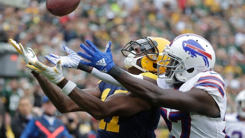 <p>               FILE - In this Sunday, Sept. 30, 2018, file photo, Buffalo Bills' Tre'Davious White breaks up a pass intended for Green Bay Packers' Davante Adams during the first half of an NFL football game in Green Bay, Wis. On Sunday, White is faced with the daunting challenge of defending DeAndre Hopkins, the NFL's leading receiver, in Buffalo's game at the Houston Texans. (AP Photo/Morry Gash, File)             </p>