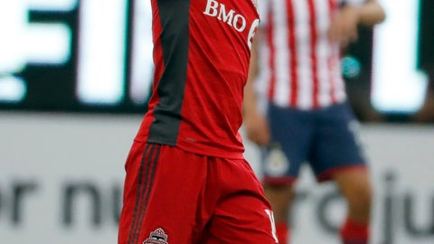 <p>               FILE - In this April 25, 2018 file photo, Toronto FC's Sebastian Giovinco celebrates scorng against Chivas during the CONCACAF Champions League final soccer match in Guadalajara, Mexico. Italy coach Roberto Mancini included the 31-year-old Toronto FC forward in the 28-man squad he named Friday, Oct. 5, 2018 for upcoming matches against Ukraine and Poland.  (AP Photo/Eduardo Verdugo, file)             </p>