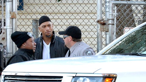 <p>               Former Carolina Panthers NFL football player Rae Carruth, center, exits the Sampson Correctional Institution in Clinton, N.C., Monday, Oct. 22, 2018. Former NFL wide receiver Rae Carruth has been released from prison after serving 18 years for conspiring to murder the mother of his unborn child.  The Carolina Panthers' 1997 first-round draft pick was released Monday from Sampson Correctional Institution in Clinton, North Carolina after completing his sentence.  (Jeff Siner/The Charlotte Observer via AP)             </p>