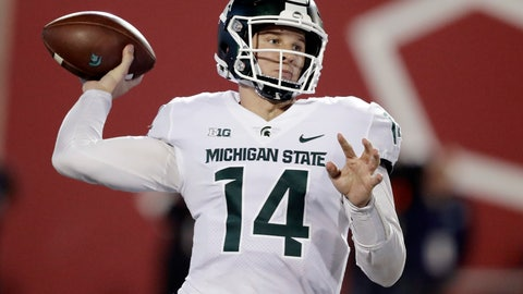 <p>               FILE - In this Sept. 22, 2018, file photo, Michigan State quarterback Brian Lewerke throws during the first half of an NCAA college football game against Indiana in Bloomington, Ind. It's been an up-and-down season for Michigan State quarterback Brian Lewerke, who now faces the nation's top-ranked pass defense when the Spartans take on Michigan this weekend.  (AP Photo/Darron Cummings, File)             </p>