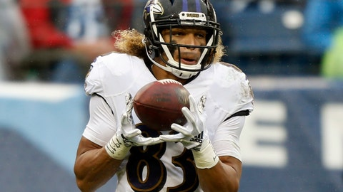 <p>               FILE - In this Oct. 14, 2018, file photo, Baltimore Ravens wide receiver Willie Snead IV plays against the Tennessee Titans in the first half of an NFL football game, in Nashville, Tenn. Undaunted by the mayhem in the middle of the field, Willie Snead has a knack for weaving through a row of linebackers before making a clutch catch for the Baltimore Ravens. Such was the case last Sunday in Tennessee. (AP Photo/Wade Payne, File)             </p>