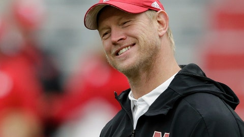 <p>               FILE - In this Sept. 29, 2018, file photo, Nebraska head coach Scott Frost smiles while talking with Purdue head coach Jeff Brohm, not shown, before an NCAA college football game in Lincoln, Neb. Good times are coming are coming at Nebraska, coach Scott Frost promises. It may not happen this weekend against No. 16 Wisconsin. But while the Cornhuskers don't have any wins yet under the first-year coach, he does have hope. (AP Photo/Nati Harnik, File)             </p>