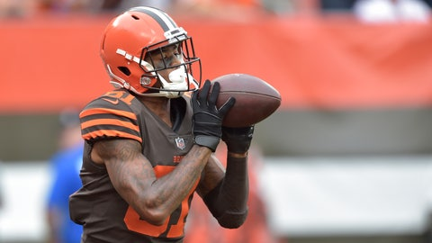 <p>               Cleveland Browns wide receiver Rashard Higgins catches a 19-yard touchdown pass during the first half of an NFL football game against the Baltimore Ravens, Sunday, Oct. 7, 2018, in Cleveland. (AP Photo/David Richard)             </p>