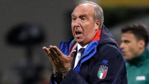 <p>               FILE - In this Monday, Nov. 13, 2017 file photo, Italy coach Gian Piero Ventura gestures during the World Cup qualifying play-off second leg soccer match between Italy and Sweden, at the Milan San Siro stadium, Italy. Serie A club Chievo Verona announced Wednesday, Oct. 10, 2018 that hired former Italy coach Gian Piero Ventura who was fired nearly a year ago for Italy's failure to qualify for the World Cup. (AP Photo/Luca Bruno)             </p>