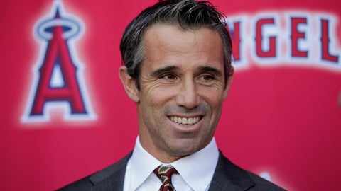 <p>               New Los Angeles Angels manager Brad Ausmus smiles while talking to reporters during a news conference Monday, Oct. 22, 2018, in Anaheim, Calif. The former Tigers skipper replaces Mike Scioscia with plans to boost a big-budget team with no playoff victories since 2009. (AP Photo/Jae C. Hong)             </p>