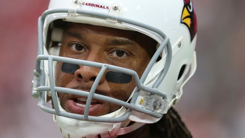 <p>               FILE - In this Sunday, Sept. 23, 2018, file photo, Arizona Cardinals wide receiver Larry Fitzgerald pauses on the field prior to an NFL football game against the Chicago Bears in Glendale, Ariz. Fitzgerald says it's the wins that keep him playing in the NFL. If that's true, it must have been a pretty miserable first month to his 15th pro season. (AP Photo/Ralph Freso, FIle)             </p>