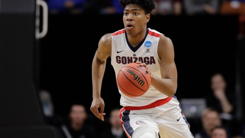 <p>               FILE - In this Thursday, March 15, 2018 file photo, Gonzaga forward Rui Hachimura moves the ball against UNC-Greensboro during an NCAA men's college basketball tournament first-round game in Boise, Idaho. This is the 20th anniversary of No. 3 Gonzaga's 1999 run to the Elite Eight that vaulted the Bulldogs to national prominence, and coach Mark Few might have his best team ever. With a bounty of new and returning stars, including NBA hopefuls Rui Hachimura and Killian Tillie, the Zags seem poised to make a run again at their first national title. (AP Photo/Ted S. Warren File)             </p>