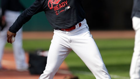 <p>               Cleveland Indians' Rajai Davis throws during a baseball workout, Wednesday, Oct. 3, 2018, in Cleveland. The Indians play the Houston Astros in Game 1 of the American League division series on Friday in Houston. (AP Photo/Tony Dejak)             </p>