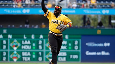 <p>               FILE - In this Sept. 23, 2018, file photo, Pittsburgh Pirates second baseman Josh Harrison acknowledges the fans as he leaves the field at PNC Park after being replaced in the eighth inning of the team's baseball game against the Milwaukee Brewers in Pittsburgh. Harrison's tenure at second base for the Pirates is over. Pittsburgh declined 2019 options for Harrison and third baseman Jung Ho Kang. The Pirates opted to pay Harrison a $1 million buyout rather than the $10.5 million he was scheduled to make next season. (AP Photo/Gene J. Puskar, File)             </p>