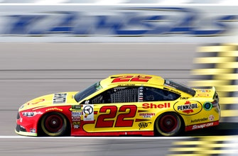 The Latest: Logano wins 1st stage at Kansas Speedway
