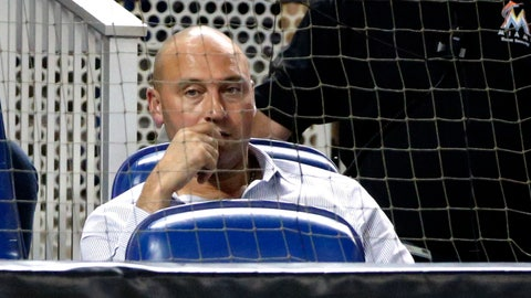 <p>               FILE - In this July 2, 2018, file photo, Miami Marlins CEO Derek Jeter watches during the ninth inning of a baseball game against the Tampa Bay Rays, in Miami. Jeter played on a winning team in each of his 20 seasons as a shortstop, which made his first year as an owner a test of patience. He admits he failed. (AP Photo/Wilfredo Lee, File)             </p>