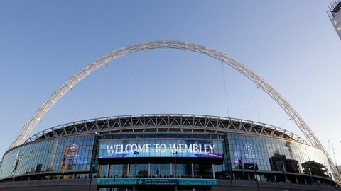 <p>               A view of the exterior of Wembley Stadium in London, Wednesday, Oct. 3, 2018. Britain is looking to host up to 60 major sporting events over the next 15 years, including soccer's World Cup, to assert global influence and secure trade deals after Brexit. Building on the successful of the 2012 Olympics in London and the English Premier League, hosting major sporting events is now embraced as a key instrument of soft power by British Prime Minister Thresa May's government. The UK Sport list of sporting events being targeted was revealed hours after May's speech to her Conservative Party conference, with the centerpiece the 2030 World Cup.  (AP Photo/Kirsty Wigglesworth)             </p>