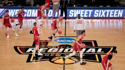 <p>               FILE - In this March 23, 2017, file photo, Wisconsin players dribble across the court during practice at Madison Square Garden in New York. Defending national champion Villanova will play at least three times at Madison Square Garden during the upcoming season, part of a 2018-19 college basketball schedule that also features Duke, Kentucky and Syracuse visiting The World's Most Famous Arena. Florida, Maryland, Notre Dame, Oklahoma, Oregon and West Virginia are among the other programs headed to MSG. (AP Photo/Julie Jacobson, File)             </p>