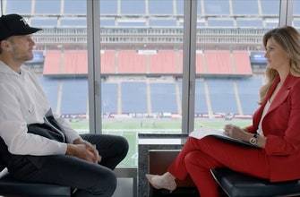 Tom Brady sits with Erin Andrews to discuss inviting fans to his life off the field