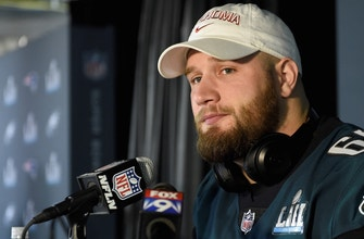 Colin Cowherd confronts Lane Johnson about his 'fun' comment after Super Bowl win over Patriots