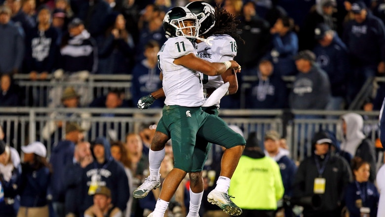 Michigan State shocks No. 8 Penn State in the waning seconds for a 21-17 Spartans win