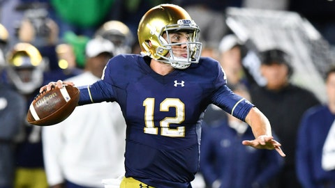ON THE RISE: Ian Book, Notre Dame QB