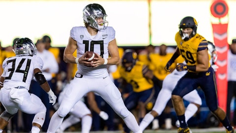 FALL GUYS: Justin Herbert, Oregon QB