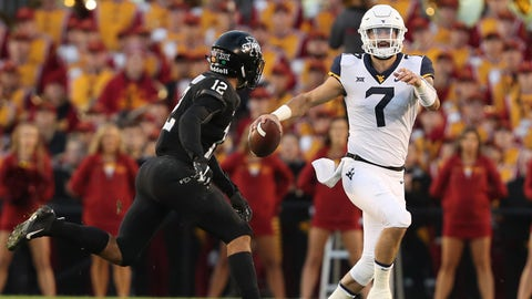 FALL GUYS: Will Grier, West Virginia QB