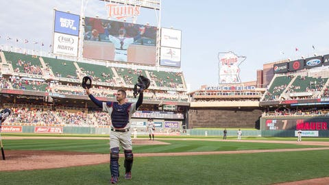 BEST MOMENT - Joe Mauer honored at Target Field