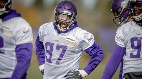 Everson Griffen apologizes, says he's 'happy to be back' with Minnesota Vikings