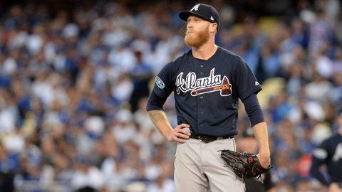 1. Mike Foltynewicz's postseason debut goes awry in a hurry