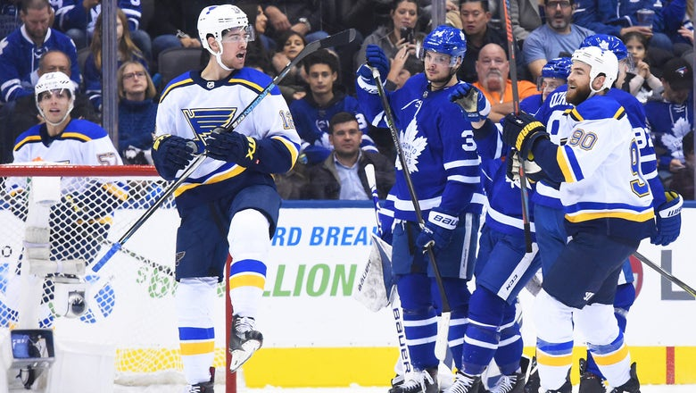 Blues defeat Maple Leafs 4-1 for first road win of season
