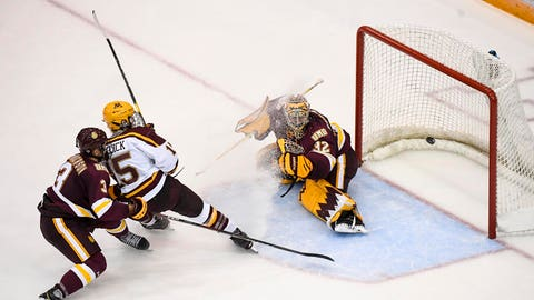 Hunter Shepard, Minnesota Duluth goalie (↓ DOWN)