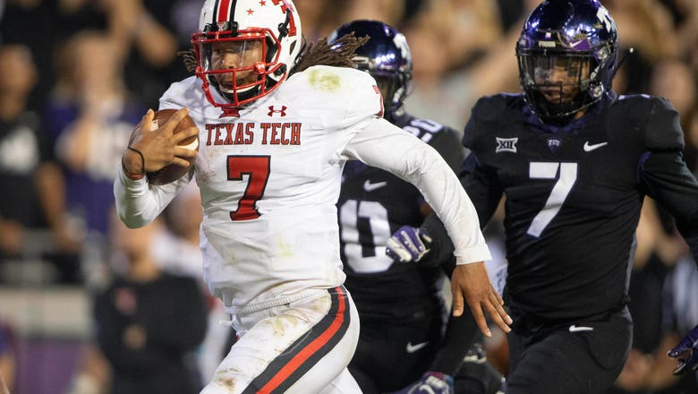 Who will start at quaterback for Texas Tech vs. Kansas?